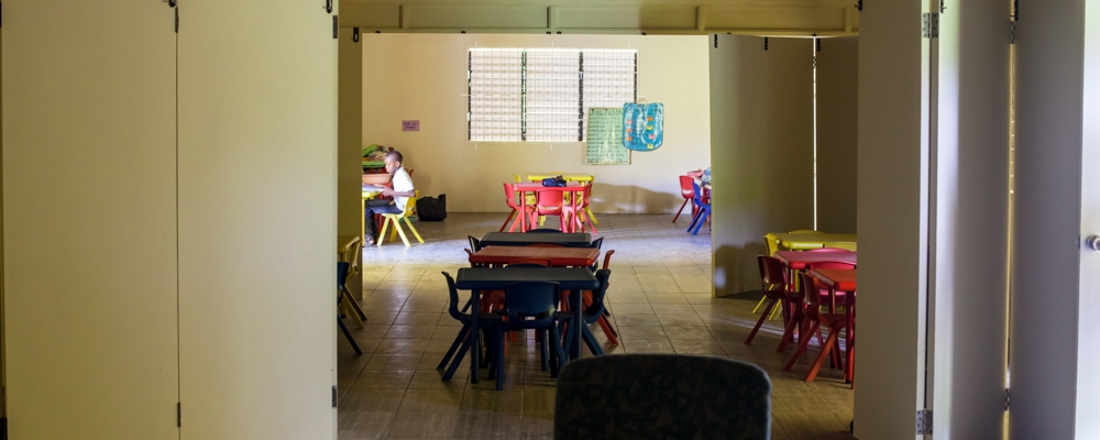 Interior of the Bluefields Basic School