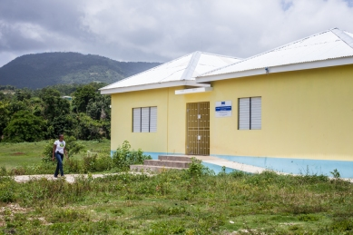 The new Bluefields Basic School (ages 3-5). Joy Baker is the principal and the teacher of the 3 year olds the first year the school was opened.