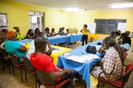 Financial workshop at refurbished Community Center.