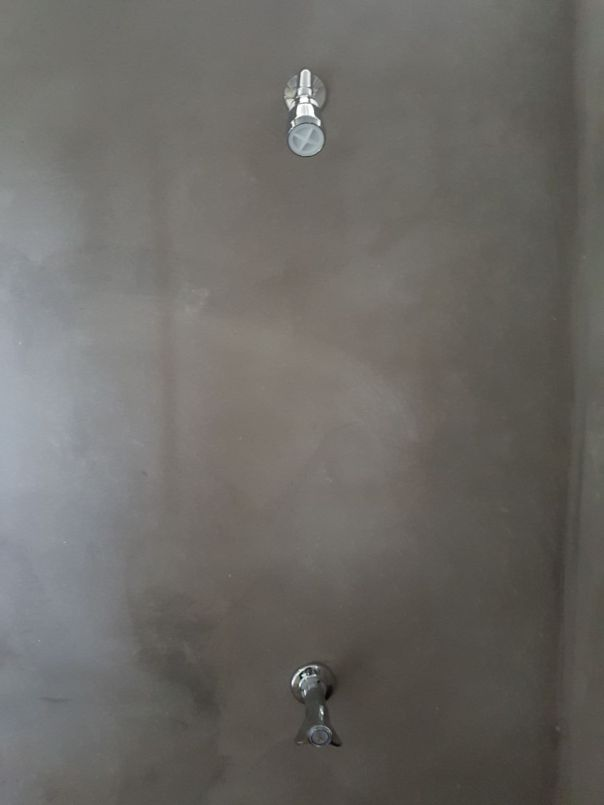 Shower installed!