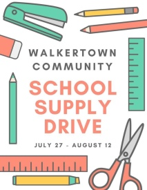 Many Walkertown families benefited from and supported this drive. A true community effort, all around!