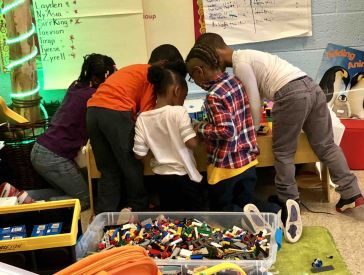 Kids at Smith Farm Elementary, taking their learning to a higher level!
